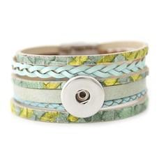 Clicks Sieraden Clicks armband leer multi color