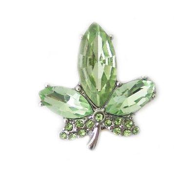 Clicks / Chunks Click blad groen zilver