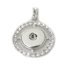 Clicks Sieraden Clicks hanger rond full crystal zilver