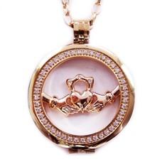 Complete Muntketting Open Forever love rose goud