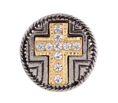 Clicks en Chunks   Click kruis goud crystals voor clicks sieraden