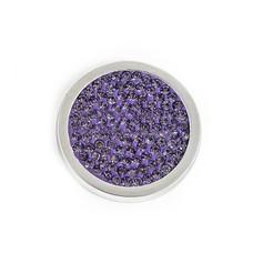Munt voor Muntketting Full crystals licht paars smal zilver