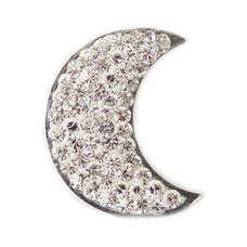 Clicks / Chunks Click maan met crystals zilver