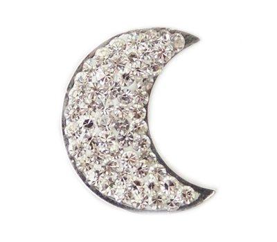 Clicks en Chunks | Click maan met crystals zilver