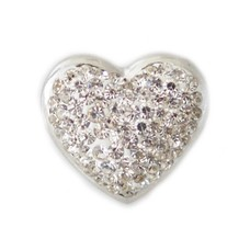 Clicks / Chunks Click hart full crystals zilver