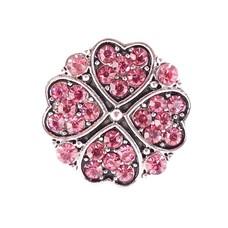 Clicks en Chunks | Click hartjes klavertje vier roze zilver