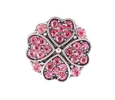 Clicks / Chunks Click hartjes klavertje vier roze zilver