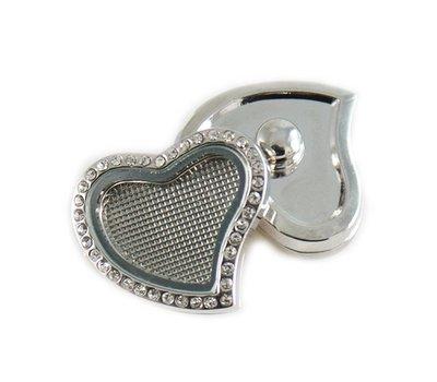 Clicks / Chunks Click memory locket hart met strass
