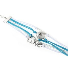 Clicks Sieraden Clicks armband love blauw wit