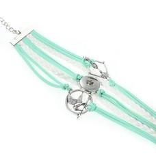 Clicks Sieraden Clicks armband pijl en boog groen wit