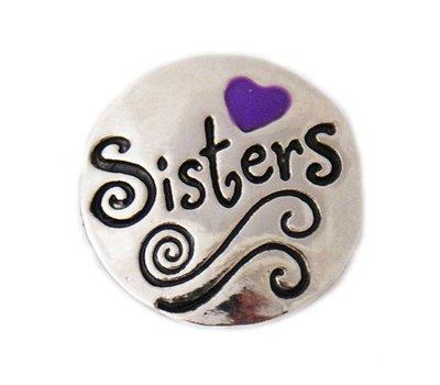 Clicks en Chunks   Click sisters paars hartje voor clicks sieraden