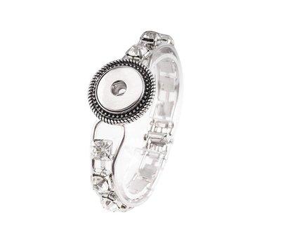 Clicks Sieraden Clicks armband sjiek strass zilver
