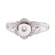Clicks Sieraden Clicks armband bloem strass zilver