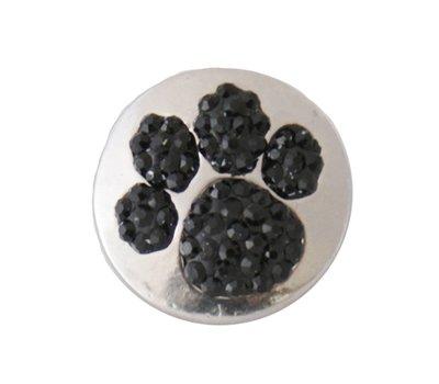 Clicks en Chunks | Click hondenpoot zwarte crystals voor clicks sieraden