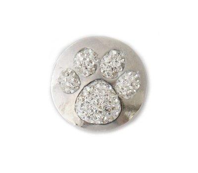 Clicks en Chunks | Click hondenpoot witte crystals voor clicks sieraden