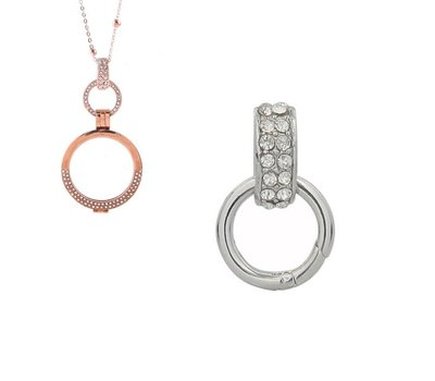 Accessoires Muntketting Spring clasp dangle zilver