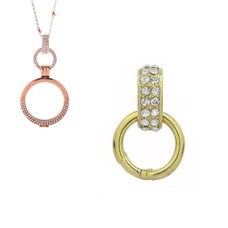 Accessoires Muntketting Spring clasp dangle goud