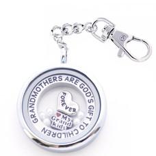 Complete Memory locket Memory locket sleutelhanger oma en kleinkinderen