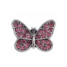 Clicks en Chunks | Click vlinder roze strass