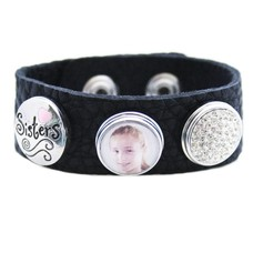 Foto Armbanden Clicks Foto armband zus zwart met 2 clicks en 1 foto