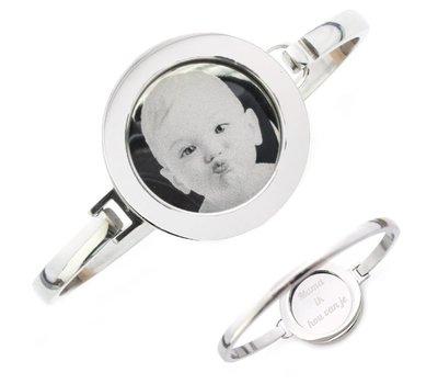 Armband met foto graveren Armband met foto graveren zilver