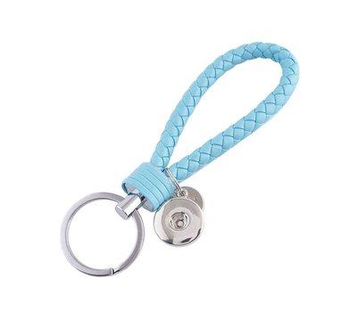 Clicks Sieraden Gevlochten click sleutelhanger blauw