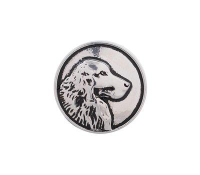 Clicks en Chunks | Click hond zilver voor clicks sieraden