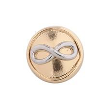 Clicks en Chunks | Click infinity zilver met goud
