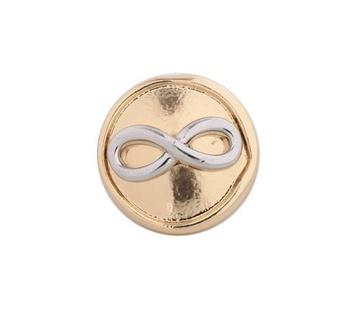 Clicks / Chunks Click infinity zilver met goud