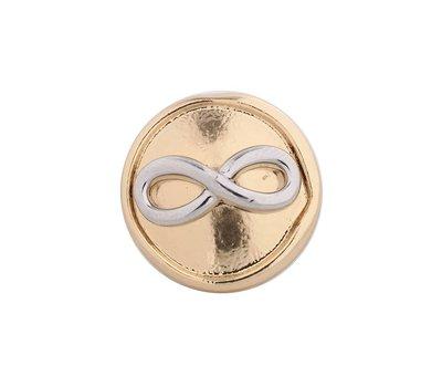 Clicks en Chunks | Click infinity zilver met goud voor clicks sieraden