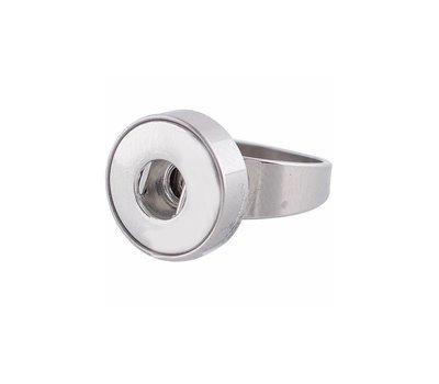 Clicks Sieraden Clicks ring rvs zilver