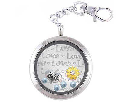 Complete Memory locket Liefde Memory Locket Sleutelhanger