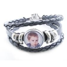 Foto Armbanden Clicks Foto triple armband grijs met 1 foto