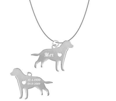 Dieren Sieraden Graveerbare honden ketting Labrador Retriever