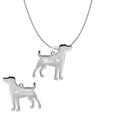 Dieren Sieraden Graveerbare honden ketting Jack Russell Terrier