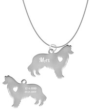 Dieren Sieraden Graveerbare honden ketting Alaskan Malamute
