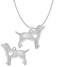 Dieren Sieraden Graveerbare honden ketting Boston Terrier