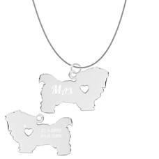 Dieren Sieraden Graveerbare honden ketting Maltezer