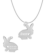 Dieren Sieraden Graveerbare konijnen ketting konijn