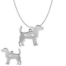 Dieren Sieraden Graveerbare honden ketting Beagle