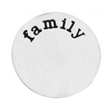 Floating locket  discs Memory locket disk family zilver XL