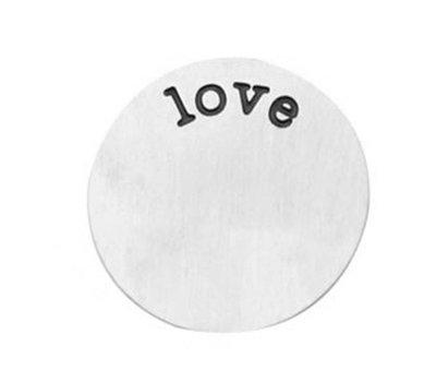 Locket Disks Floating locket disk love zilver XL