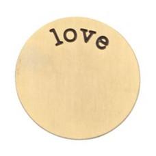 Floating locket  discs Memory locket disk love goud XL