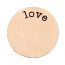 Locket Disks Floating locket disk love rose goud XL