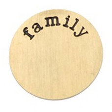 Floating locket  discs Memory locket disk family goud XL