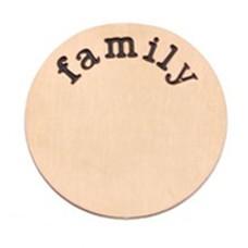 Locket Disks Floating locket disk family rose goud XL