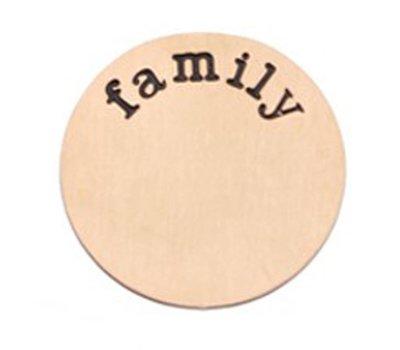 Floating locket  discs Memory locket disk family rose goud XL