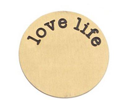 Locket Disks Floating locket disk love life goud XL