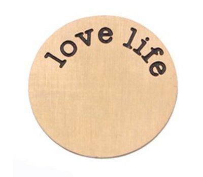 Locket Disks Floating locket disk love life rose goud XL