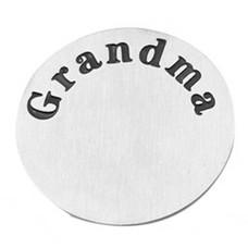 Floating locket  discs Memory locket disk Grandma zilver XL